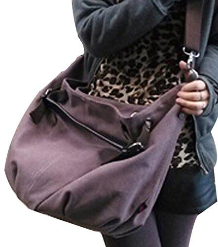 DATO Frauen Damen Fashion Casual Umhängetasche Tragetasche Canvas Große Kapazität Handtasche Schultertasche Tote Taschen Shopper Bag Beuteltaschen Hobo Bag Violett