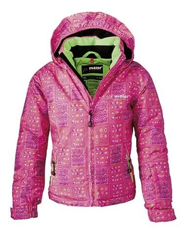 Maier Sports Kinder Ski-Jacke Dotts mTEX girl, pink / green allover, 86, 310701