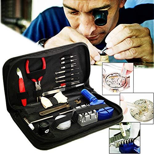 squarex Uhren-Reparaturset, Uhren-Demontage, Werkzeug-Set, Reparatur-Werkzeug, 20 Stück, Damen, Black (20Pcs), AS Show