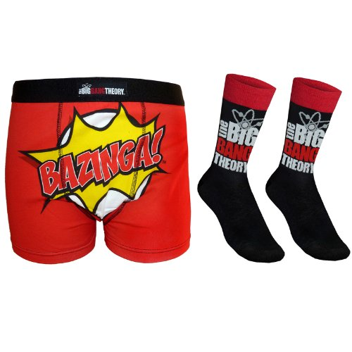 The Big Bang Theory Official Gift Mens Dress Socks & Boxer Shorts Test