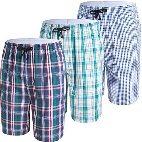 JINSHI Mens Cotton Lounge Pyjama...