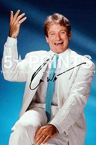 Robin Williams 30.48 X 20.32 cm Poster, Signiert von PP Lustige Movie Autogramm Legend Print -