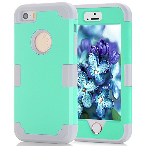iPhone 5S Fall, Telefon SE Fall, asstar 3 in 1 Hard PC + Soft TPU Impact Schutz Heavy Duty stoßfest bchiea Schutzhülle Case für Apple iPhone SE/iPhone 5 5S - - Mas Accessory Pocket