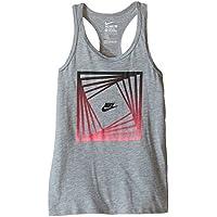 Nike Block TD Tank YTH Camiseta, Niñas, Gris, XL