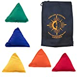 5 x Tri It Juggling Beanbags and Cascade Juggling Bag (Mixed Colour)