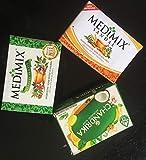 3Seife ayurvedique Medimix Classic, Chandrika und Medimix Sandal und eladi Oils, 2Medimix-125Gram und Chandrika von 75Gramm