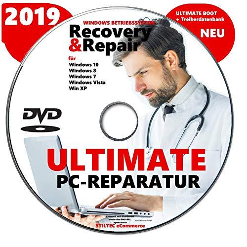 Recovery & Repair 2019 CD DVD für Windows 10 & 7 & 8 + Vista + XP PC REPARATUR Rescue-DVD Fährt jeden Rechner wieder hoch ! NEU