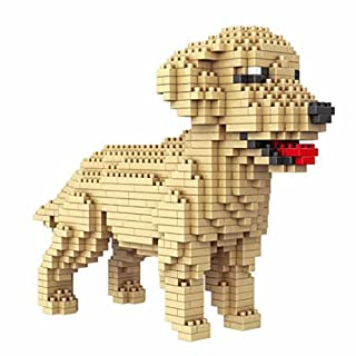 Atomic Building Dogs Various. Figures for Armar with nanobloques. Golden Retriever