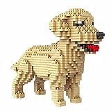 Atomic Building Perro Golden Retriever (Labrador Dorado). Figura Para armar Con nanobloques. 950 piezas.