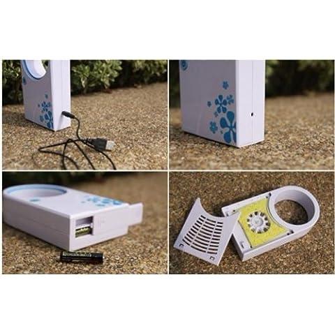 No-hojas-Air-Condition-porttil-Mini-Refrigeration-Bladeless-Fan-USB-Desktop--Azul