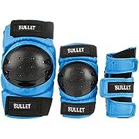 Bullet Set Protezioni Skateboard Combo Standard Padset Junior - Blue (Lrg 9-12 Anni)