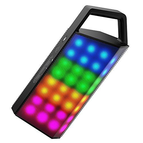 Altavoces Bluetooth Altavoces Exteriores Boostek de 10 Vatios Tarjeta TF USB Flash Disk Altavoces Inalámbricos Subwoofer LED