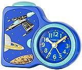 Jacques Farel Kinderwecker Jungen Weltraum blau ohne Ticken