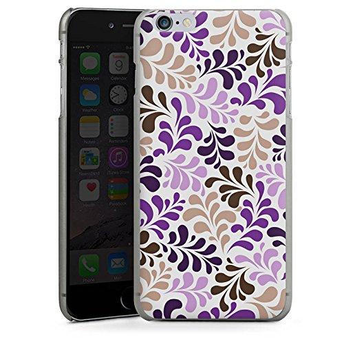 Apple iPhone 6 Housse Étui Silicone Coque Protection Ornements Motifs pixélisés Motif CasDur anthracite clair