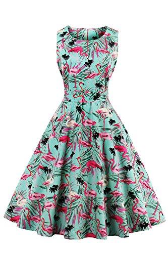 Babyonline® 50er 60er Kleider Abendkleidr Partykleider Rockabilly Retro Vintage Ärmellos Sommer Elegant Audrey Hepburn Cocktail Petticoat