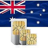 travSIM Australien Prepaid Daten SIM Karte + 1GB für 30 Tage - Standard,Micro & Nano SIM