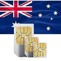 Prepaid-SIM-Karte Für Australien & Neuseeland - 3 GB Schnelle Mobile Daten - 30 Tage Standard Micro Nano