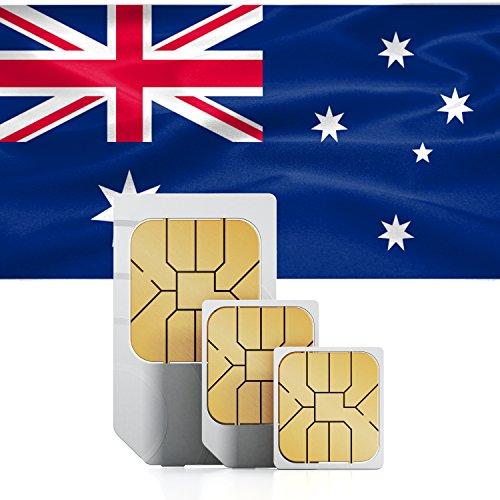 Australien & Neuseeland 3GB Prepaid Daten SIM Karte mit 3GB mobiles Internet für 30 Tage (Für Sim-karte Großbritannien)