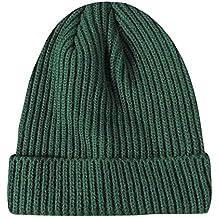 d78a8397edb6f ZyuQ Gorro de lana Hombres y Mujeres de Invierno Casual Knit Hat señoras  Hombres Frijol Bean