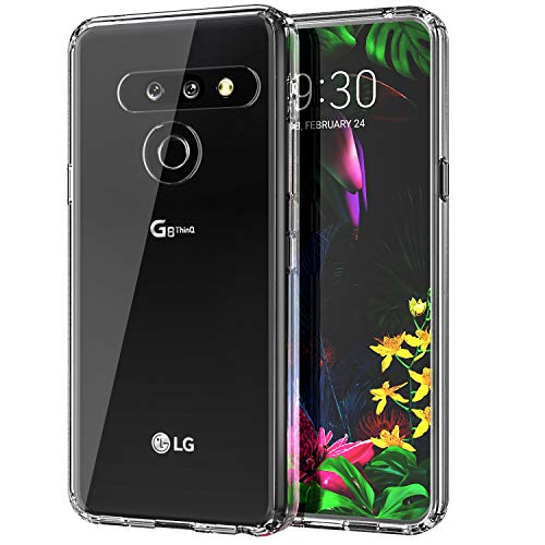 MoKo Kompatibel für LG G8 ThinQ Hülle/LG G8 Hülle/G820 Hülle/G8S Hülle, Anti-Kratz Stoßfest Ultra Dünn Schutzhülle, PC Oberfläche Weich TPU Bumper für LG G8 ThinQ/LG G8/G820/G8S - Klar