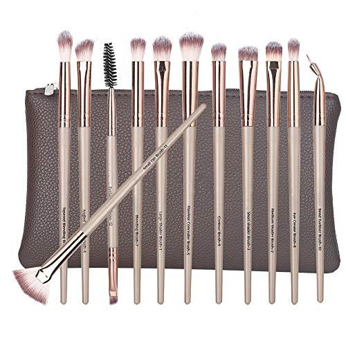 12 Pcs Fibra Artificial Set de cepillo cosmético