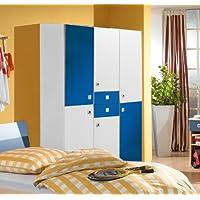 Wimex Kleiderschrank 345491 Sunny, Weiß, Abs. Marineblau, 135 cm Breite, »DAYLIGHT« preisvergleich bei kinderzimmerdekopreise.eu