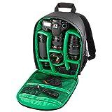 DRF Kamerarucksack für SLR Kamera und Zubehör Wasserdicht Fotorucksack #BG-250 (Grün)