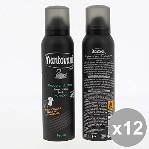 Set 12 MANTOVANI Deodorante Spray 150Ml Men