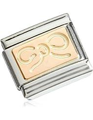 Nominación para mujer componibles parte de acero inoxidable chapado en oro - 43010112