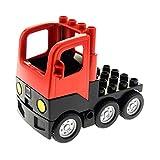 Bausteine gebraucht 1 x Lego Duplo Fahrzeug LKW rot schwarz mit Kabine Laster Lastwagen Zugmaschine Auto Unterbau Set Feuerwehr 4694 4977 4502005 1326c01 4502006 48125c01