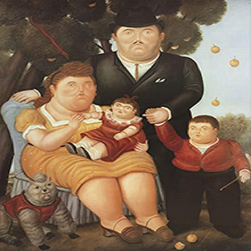 Geiqianjiumai Chica Gorda nórdica Lienzo impresión Mural y póster decoración de Dormitorio sin Marco