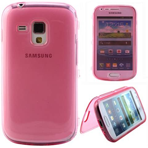 Semoss Funda de Flip Cuero TPU Silicona Carcasa Case Cover para Samsung Galaxy Trend GT-S7560 / Galaxy S Duos