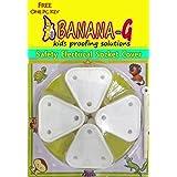 Banana-G (4 Big) Baby Safety Electrical Socket Cover,Guard,Protector- Free Key- (Big Socket Cover for 15 amp. Plug Socket - White).