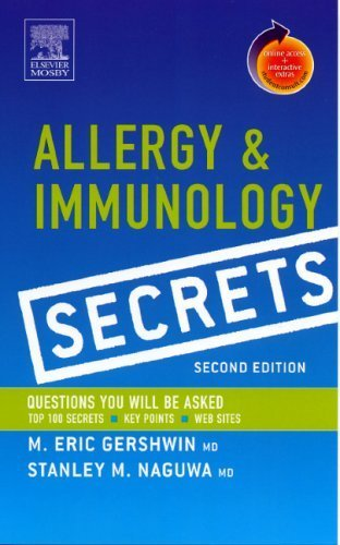 Allergy and Immunology Secrets: With STUDENT CONSULT Online Access, 2e 2nd Edition by Gershwin MD, M. Eric, Naguwa MD, Stanley M. (2004) Paperback