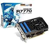 MSI ATI Radeon HD 7770 Grafikkarte (PCI-e, 1GB, GDDR5 Speicher, DVI, HDMI, DisplayPort, 1 GPU)