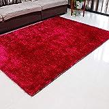 WJSWM Living Room Carpet Area Teppiche Bright Seidenfilament Line Braune Decke 120 * 170 cm Einfach Moderne Umwelt Skin-freundliche Teppiche,Red