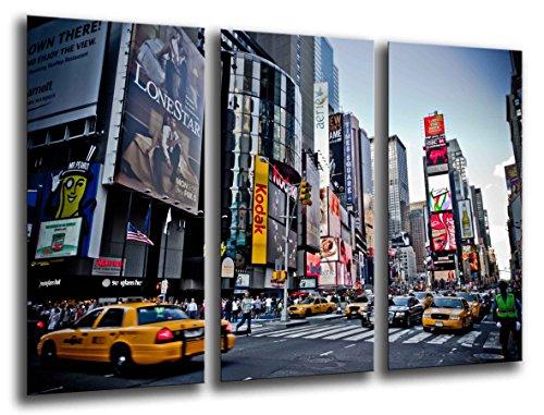 Wallfillers/® Lienzo decorativo para pared de un autob/ús londinense en rojo sobre un fondo en blanco y negro 3208 3 paneles para tu sal/ón lienzos impresos de la ciudad