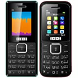 Combo Of TWO Mobiles Of KECHAODA ONEANTWO (1+1=2) D1 Black Blue+D2 Red, 1.8 Inch, Dual SIM With 1200 MAh Battery, Bluetooth,FM, Highlighted Torch, Vibration Feature And 1 Year Manufacturer Warranty