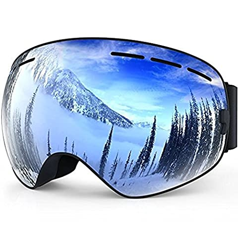 Ski Snowboard Goggles Windproof Anti-fog Dustproof Impact Resistance Adjustable Detachable