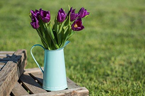 Metálico de flores jarra jarra de agua