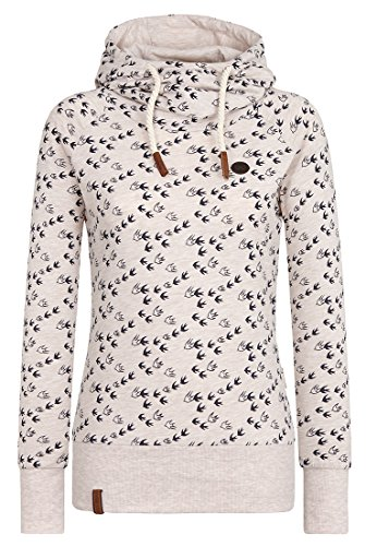 Animal Hoodie Damen (Damen Kapuzenpullover Naketano Mandy Will V÷gel (N) VIIIi)