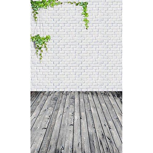 TianranRT Foto Studio Planke Studio Vinyl Holz Wand Boden Fotografie Studio Prop Hintergrund Hintergrund (D) - Vinyl Jalousie Weiss