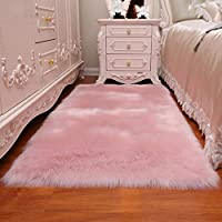 AUFELL Faux Sheepskin Rug,Imitation Lambskin Rug,Rectangular,Fur Faux Fleece Fluffy Area Rugs Anti-Skid Yoga Carpet for Living Room Bedroom Sofa Floor Rug