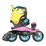 Powerslide Doop Swift III Inline Skates schwarz-pink-gelb, 43-49