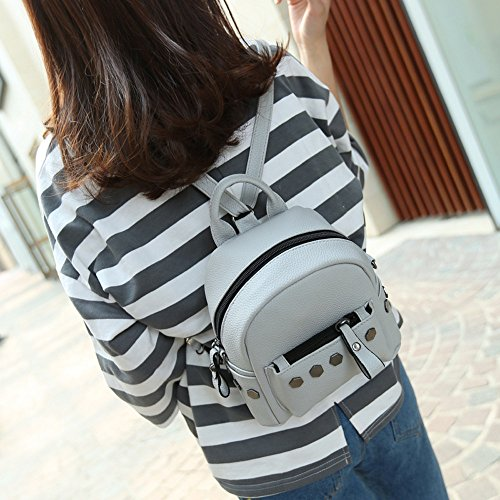 Longra Donna Mini Backpack Rivet Grigio