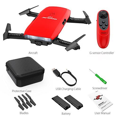 GoolRC T47 FPV Drone Faltbare mit Wifi Kamera Live Video 2.4G 4 Kanal 6 Achsen Schwerkraft Sensor RC Selfie Quadcopter RTF Mit Bonus Batterie