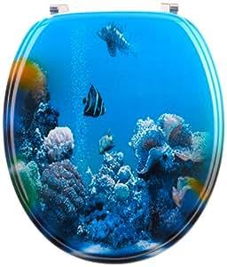 Mebasa MYBWCSC33 Abattant WC de myBath, décor monde sous-marin