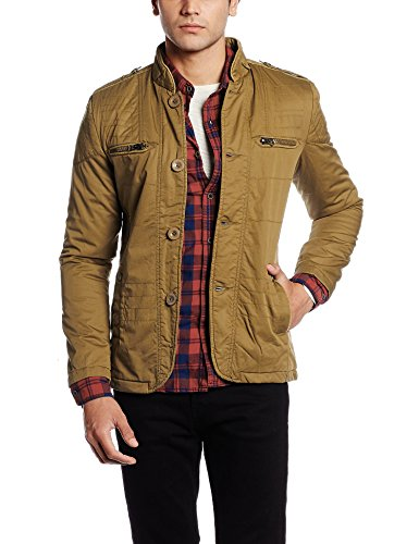 Fort Collins Men's Cotton Coat (6163-ol_Medium_Khaki)