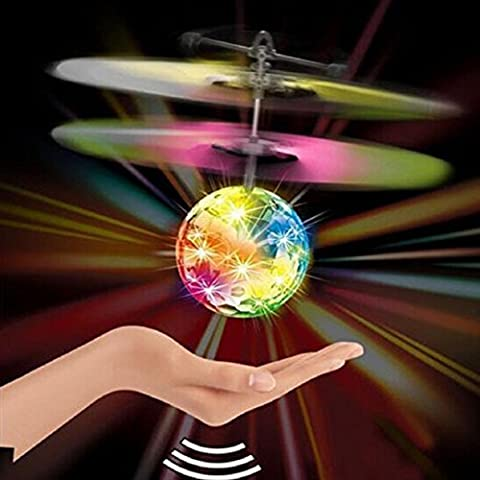 Vzer Flying RC Ball Infrared Induction Mini Aircraft Flashing Light Remote Toys for Kids