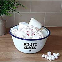 Large Personalised Snacks Bowl Large Named Popcorn Crisps Entertainment Named Bowl Dish Entertaining